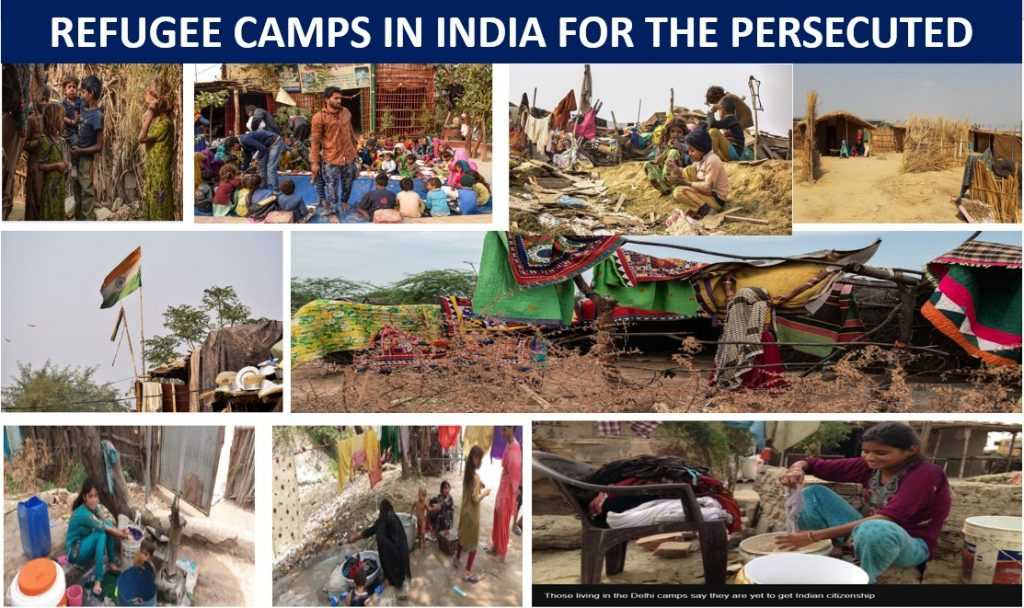 Refugee Camps in India for the persecuted