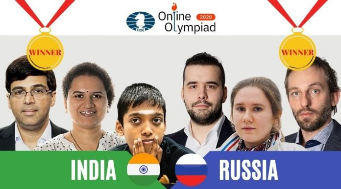 Online Chess Olympiad India and Russia are declared joint winners